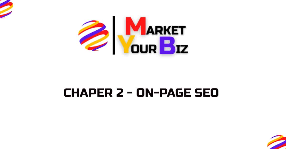 Chapter 2 - on-page seo
